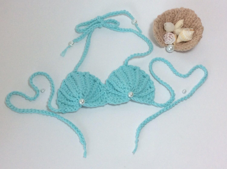 PDF Crochet seashell mermaid top PATTERN by CurlyTailCrochet