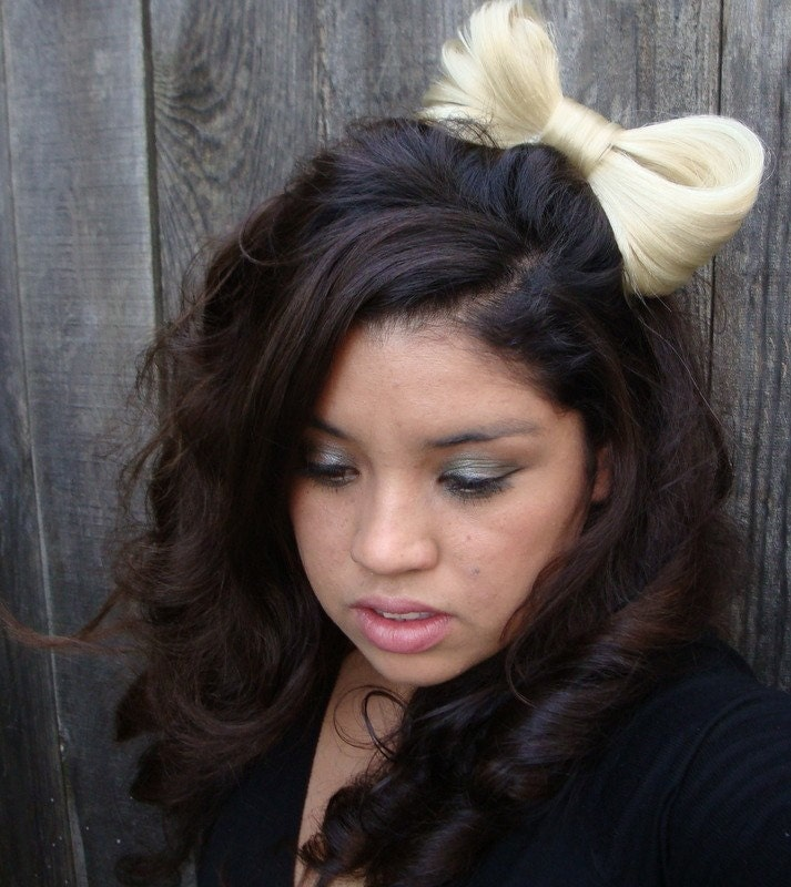 lady gaga hair bow. SALE- Lady Gaga Hair Bow