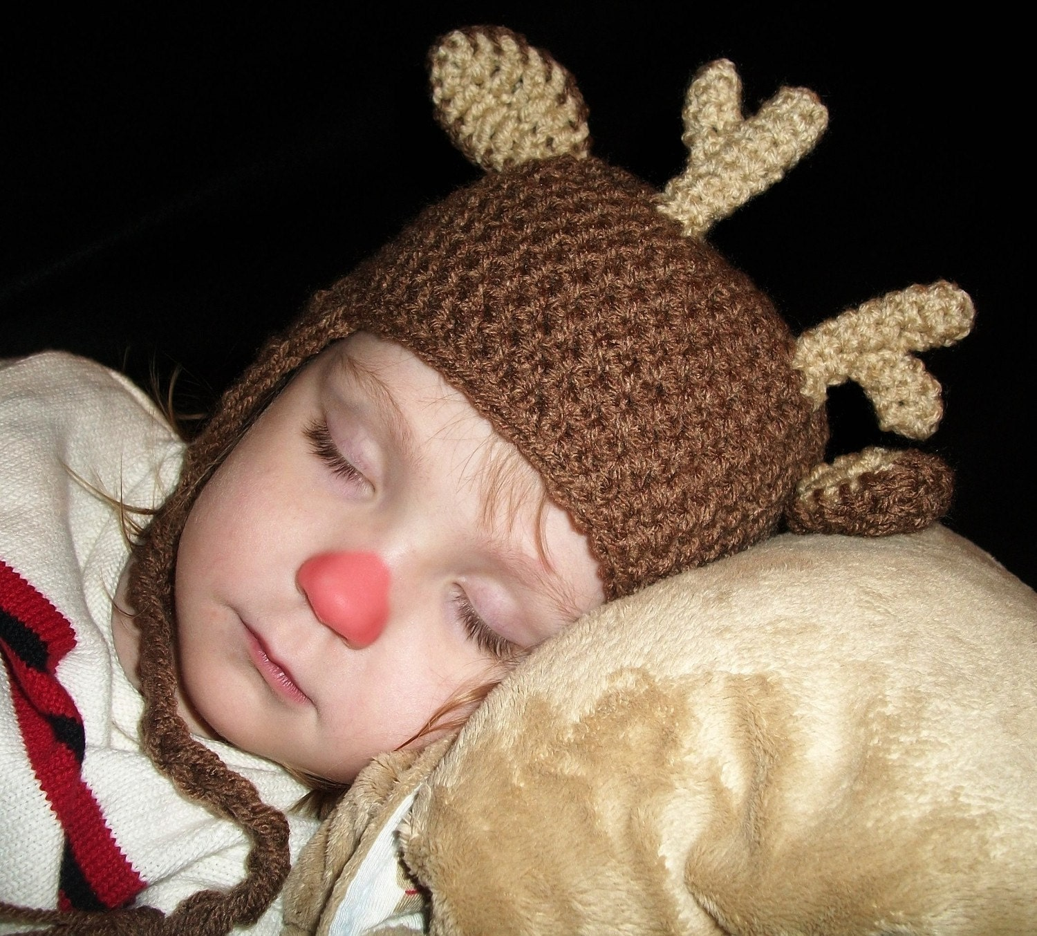 Custom Reindeer Hat  GREAT for your Christmas Card Photo