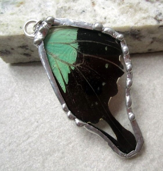 Butterfly Pendant  Papilio peranthus by DebrasDivineDesigns from etsy.com