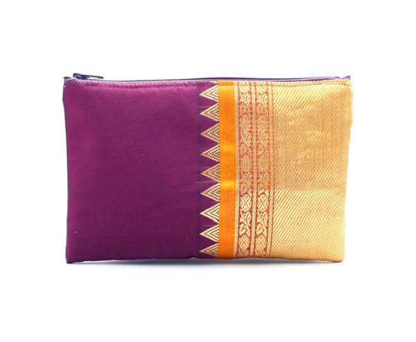 Purple Medium Purse - mayabyasha