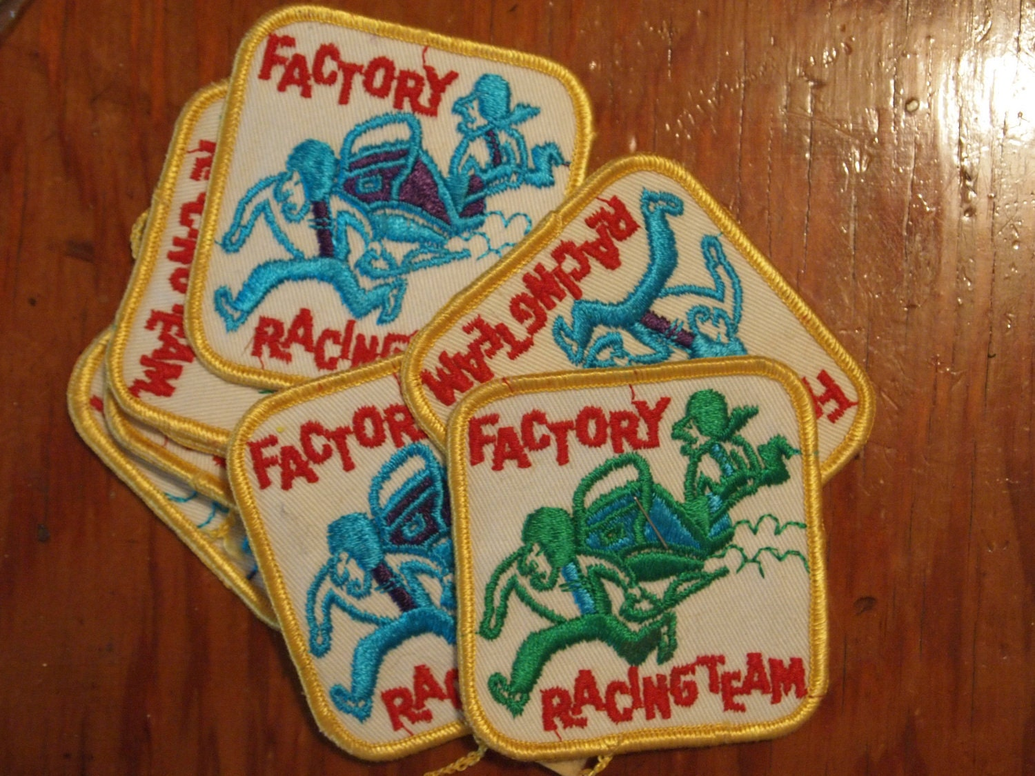 Vintage Racing Team Patches 9 pieces Sew On 1970's. From atomicpassion