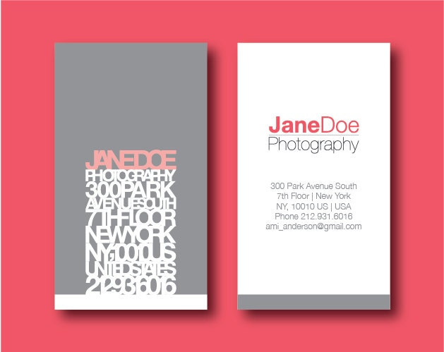 Modern Business Card Printable Helvetica by limen on Etsy
