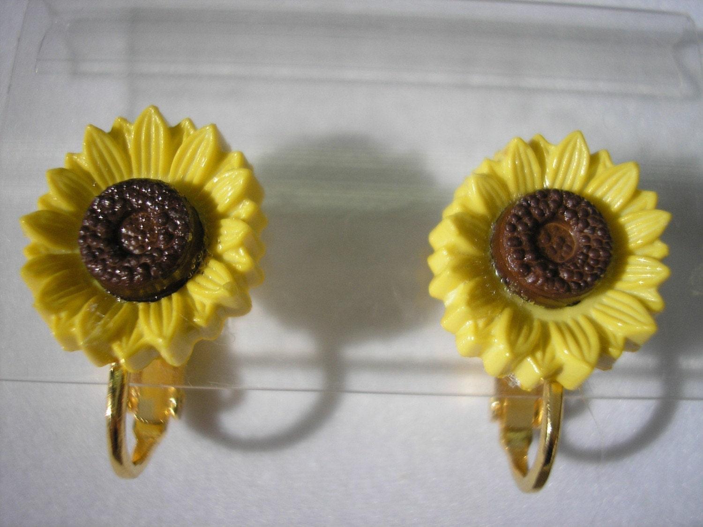 Clip Play Earring - Sunflower