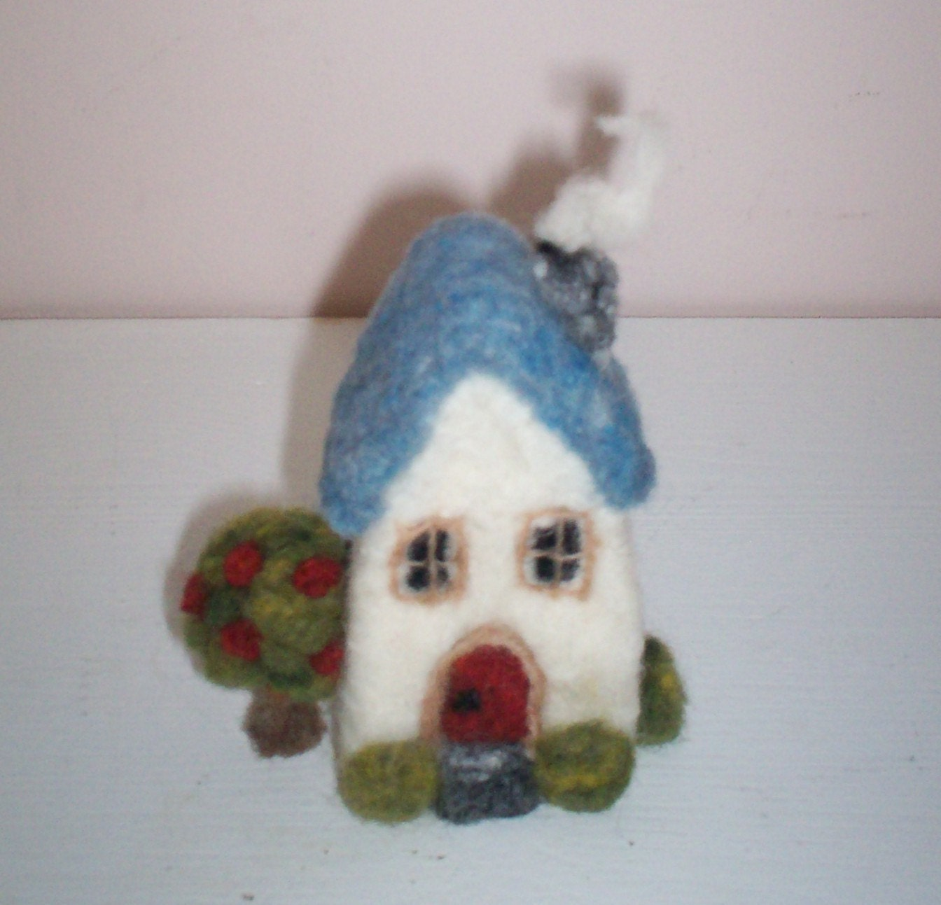 Custom Needle Felted Wool Miniature House Sculpture - Pre Order