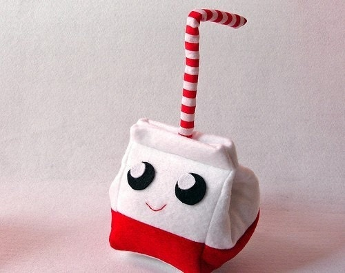 Milk Carton Plush with straw (whole milk)