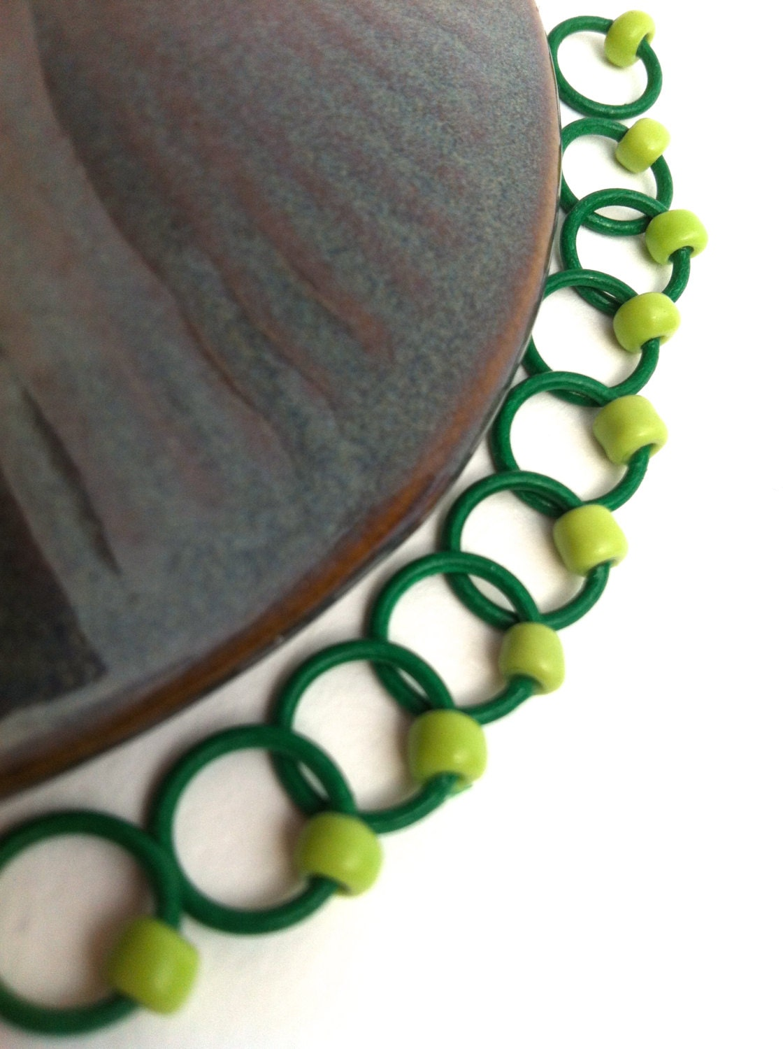 Snag Free ring stitch markers/knitting/Orings GREEN by rosyretro