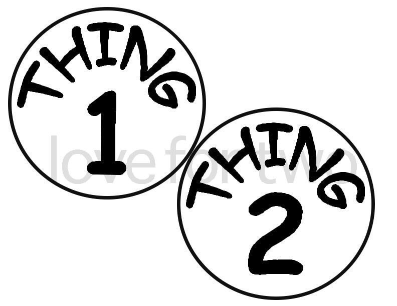 thing 1  u0026 thing 2 iron on  heat transfer by lovefortwo on etsy