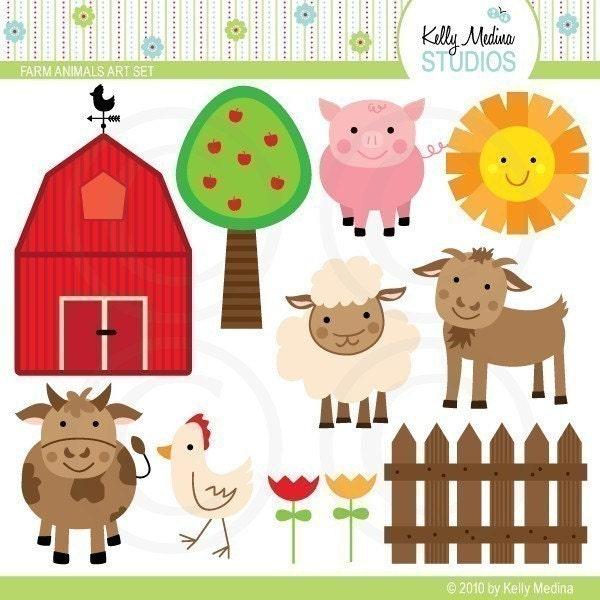 Farms Clip Art. Farm Animals Clip Art