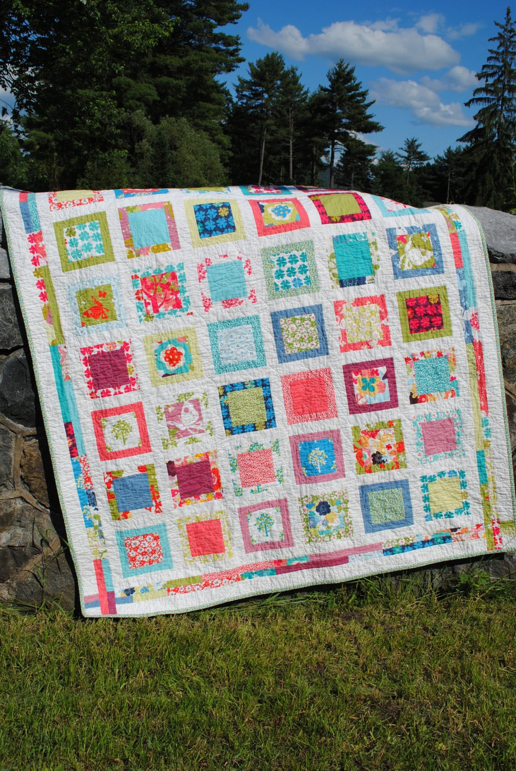 Easy Quilt Patterns With Layer Cakes : easy QUILT PATTERN Layer Cake or Fat Quarter friendly Sweet Jane s eBay