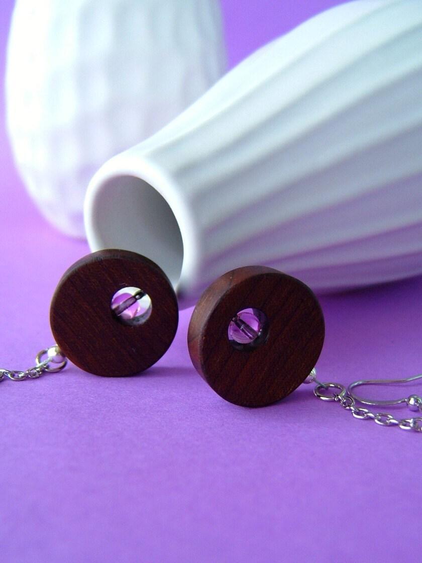Floating bubbles earrings ( pink )