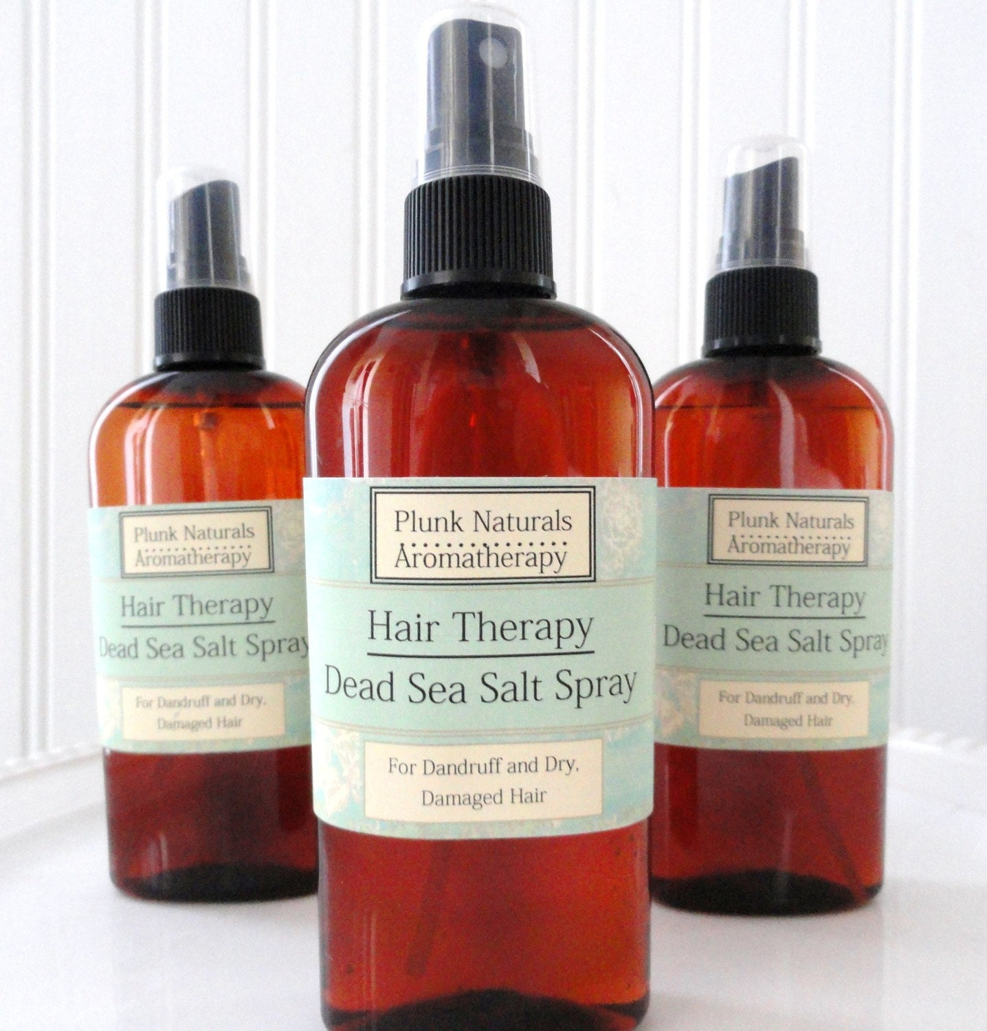 Hair Therapy Dead Sea Salt Spray for Dry, Dandruff, or Itchy Scalp 8 oz - plunksoap