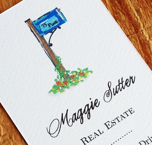 Personalized Business Card With Mail Box Or Postal Box Set
