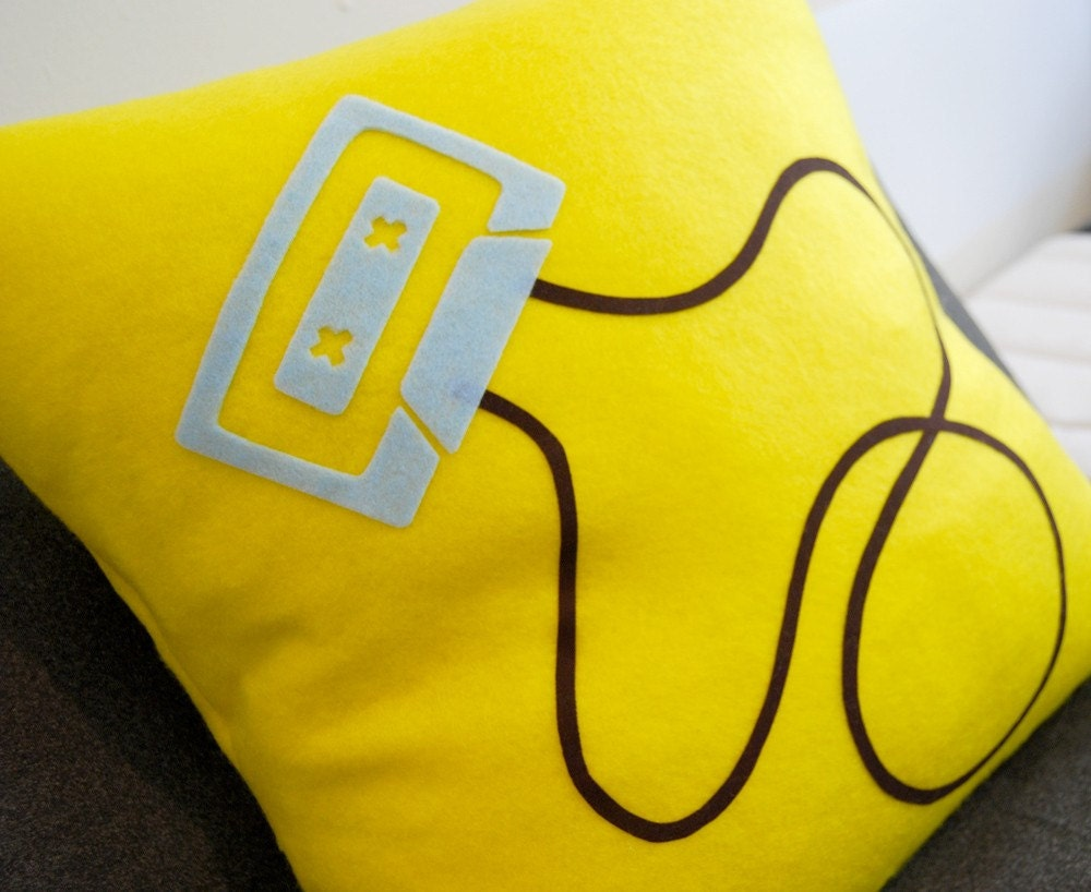 Mix Tape Pillow-- Perfect Gift for Your Music Addict Friend, Boyfriend or Sibling