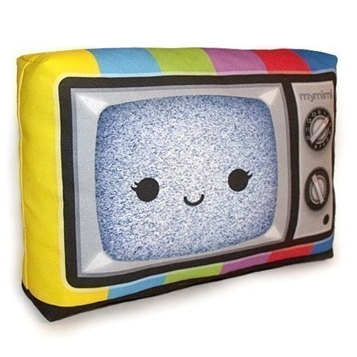 Happy Color TV - Mini Decor Pillow