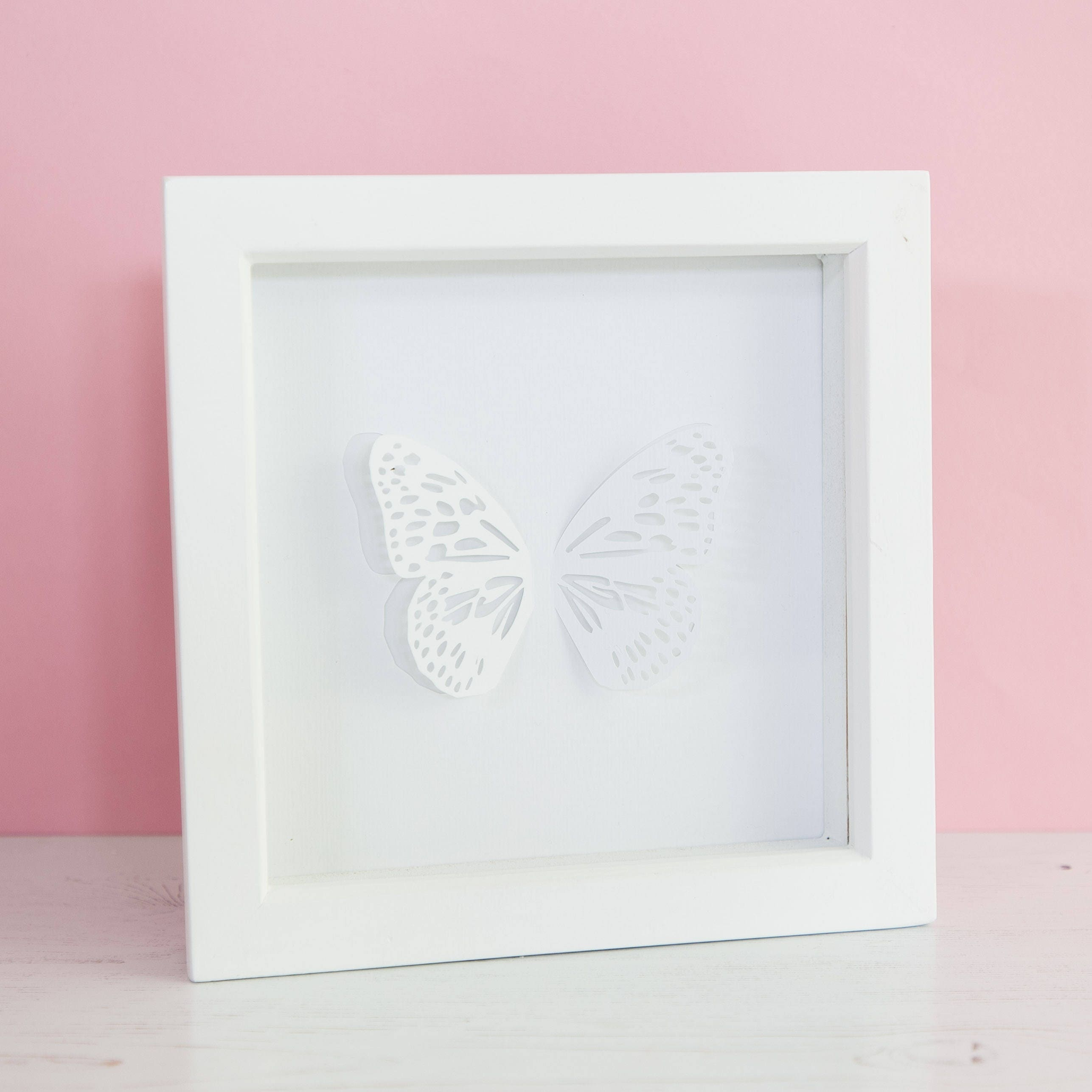Papercut Butterfly Framed Blue Tiger Paper cut Gift for Nature lover Anniversary gift Butterfly