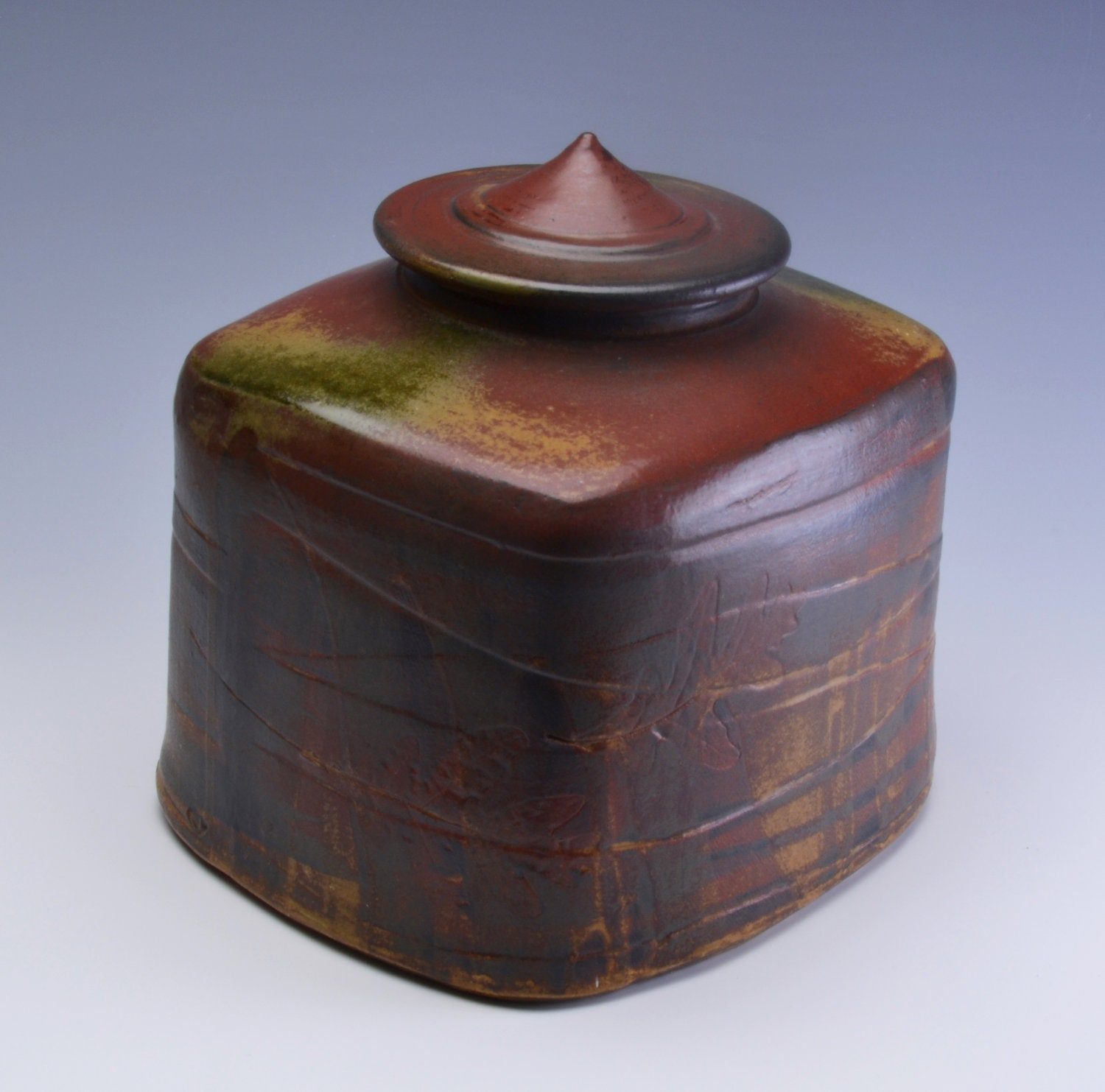 Memorial Cremation Urn One of a Kind Handmade Pottery