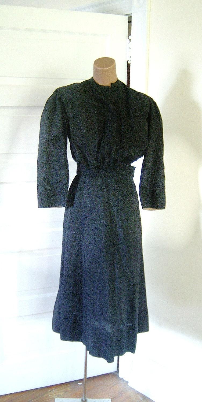 vintage amish mennonite plain dress mourning by vintagezipper