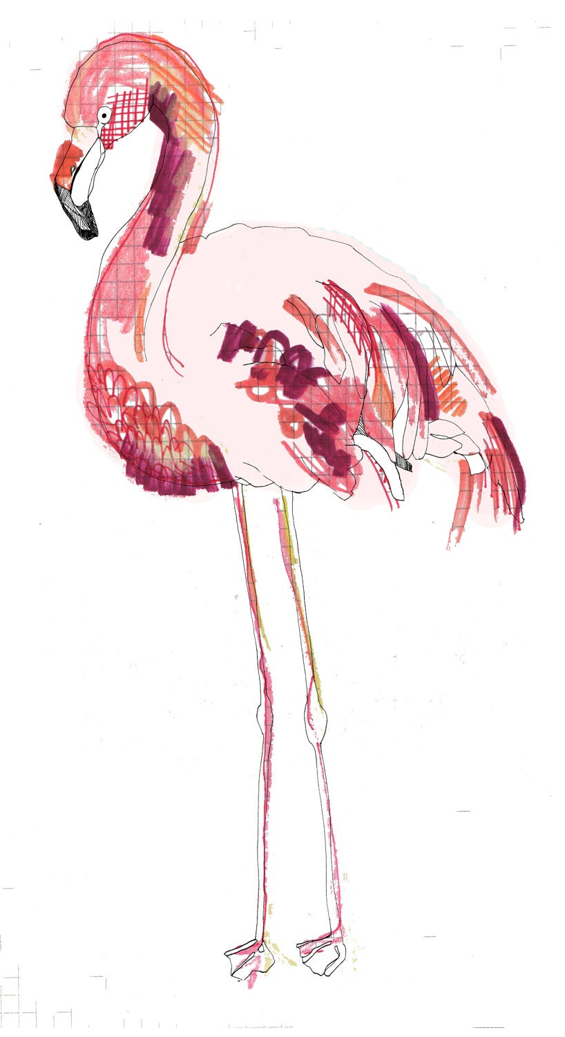 FLAMINGO limited edition print A5