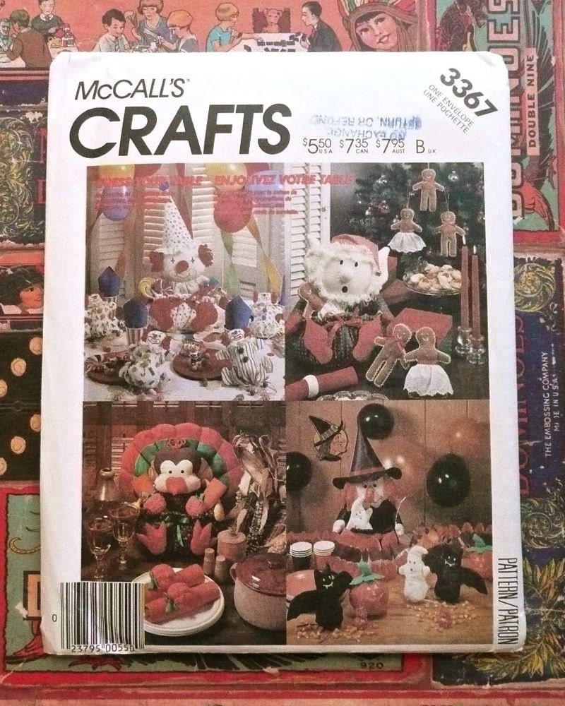 Mccall 39 S 3367 Vintage 1980s Holiday Table By Fragolina On Etsy