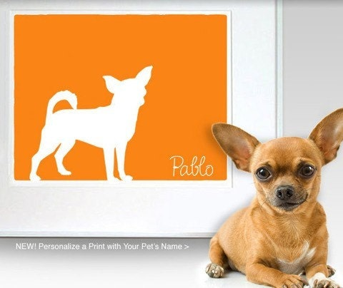 Customized 8 x 10 Mod-Dog Personalized Print with Name - you choose the font, color, and design from our shop