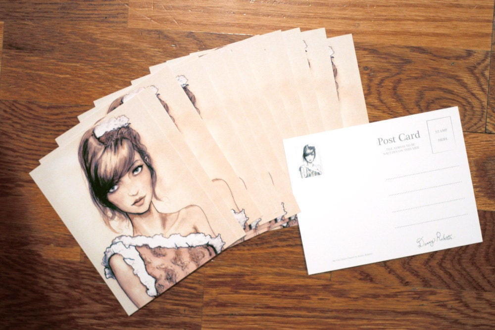 Photo of Danny Roberts Art Post Cards of my girl