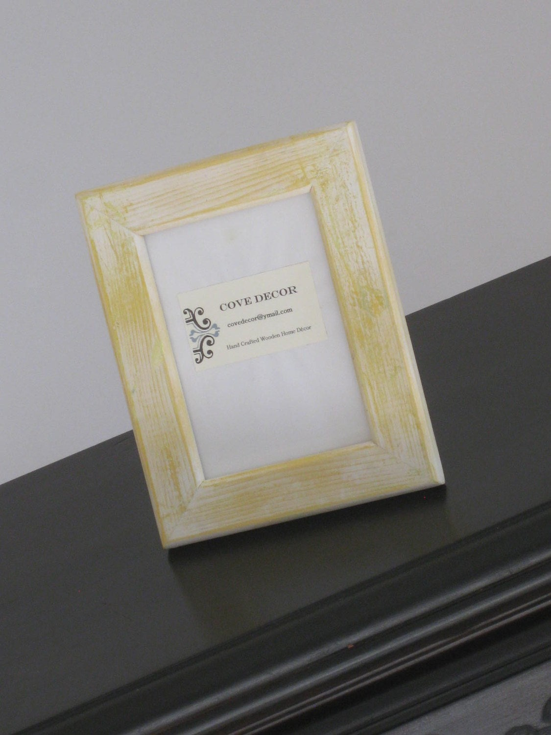 Picture Frame 8x10 Yellow Wood