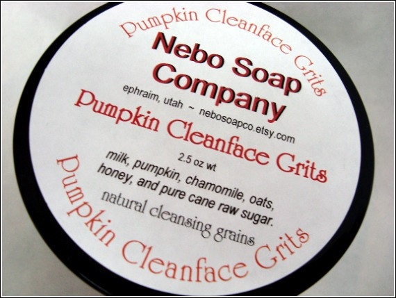 Pumpkin Cleansing Grains, Pumpkin Honey & Sugar Face Wash, Pumpkin Cleanface Grits