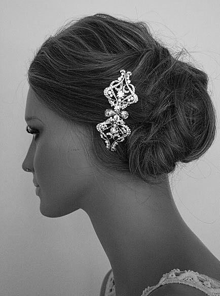 FAITH - Vintage Inspired Swarovski Rhinestones Hair Comb