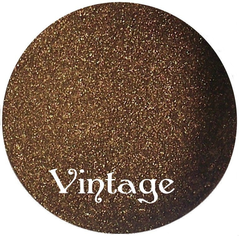 VINTAGE Dark antique gold mineral makeup eyeshadow pigment 3 gram jar