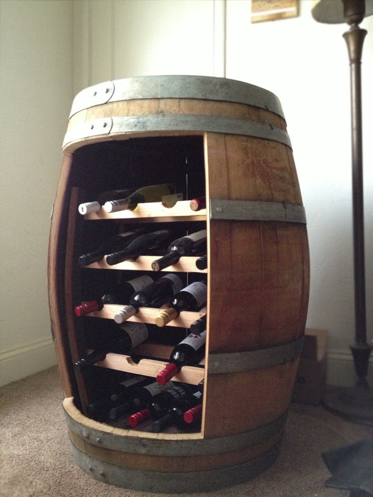 Items Similar To Reclaimed Oak Barrel Wine Rack On Etsy