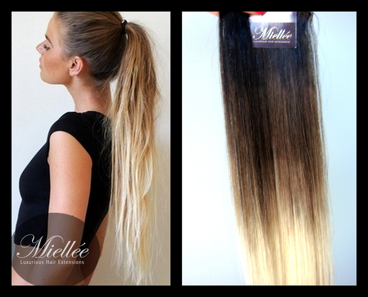 Ash Blonde Ombre Hair Extensions 15