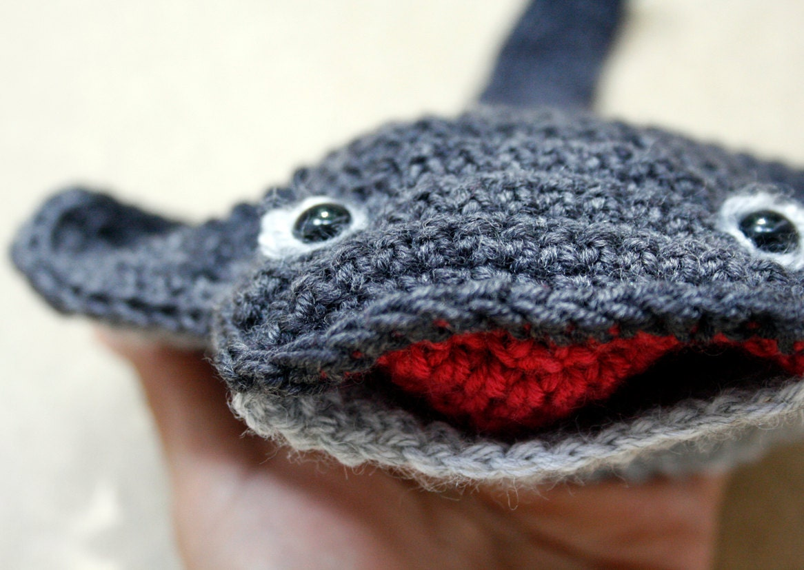 Puppet crochet wool toy - Manta Ray - petitacosa