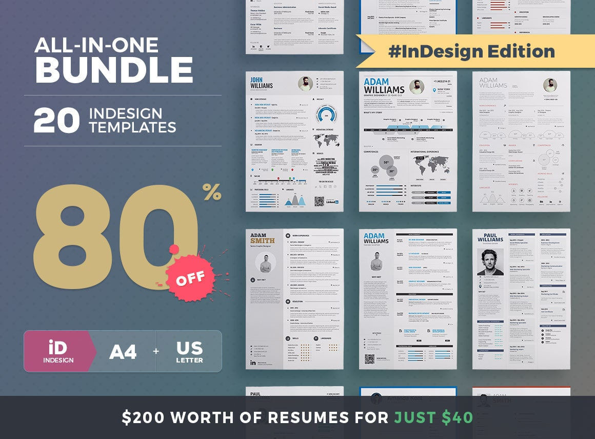 Infographic resume word template free