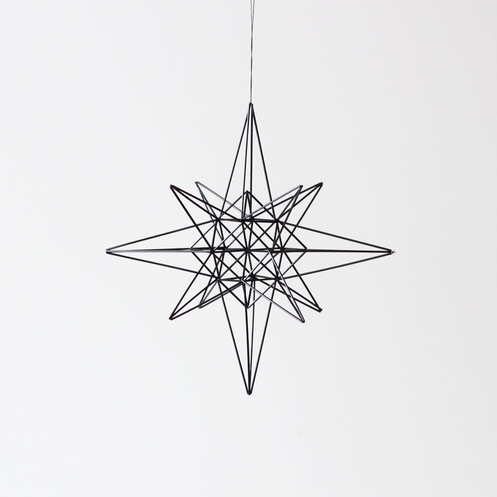 moravian star style himmeli / hanging mobile / modern geometric sculpture - AMradio