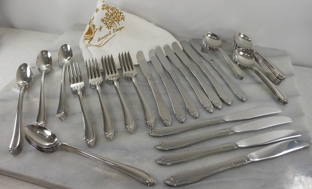 SALE SHASTA Oneida Stainless Flatware 59 Pieces 1958 by PatziPlace