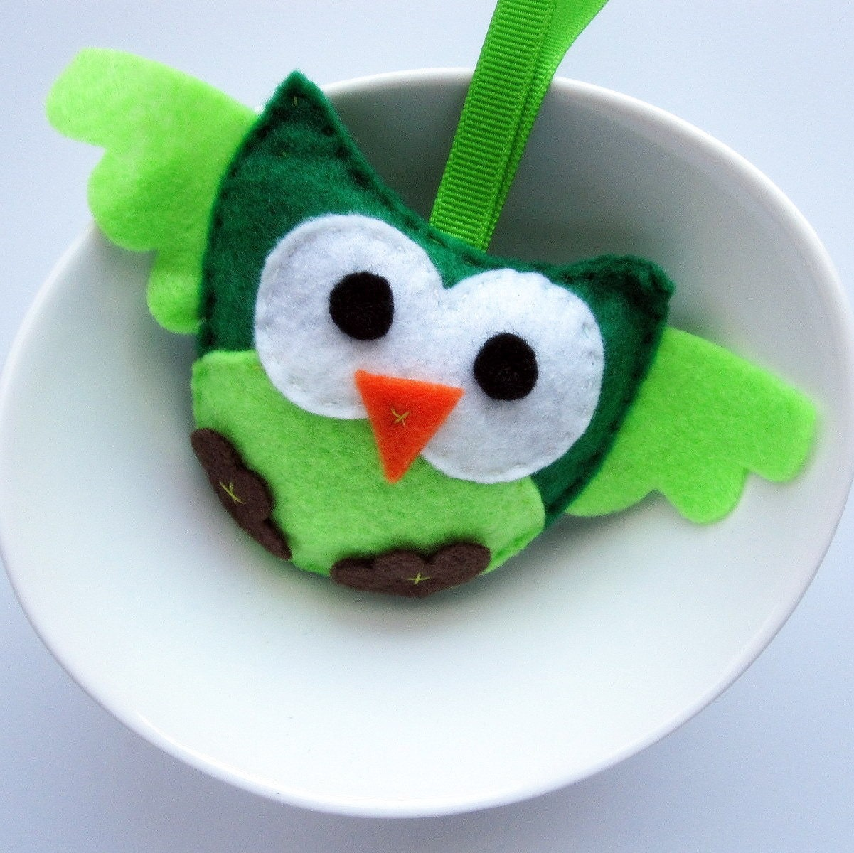 Light Green Mini Felt baby shower party favor - Ornament