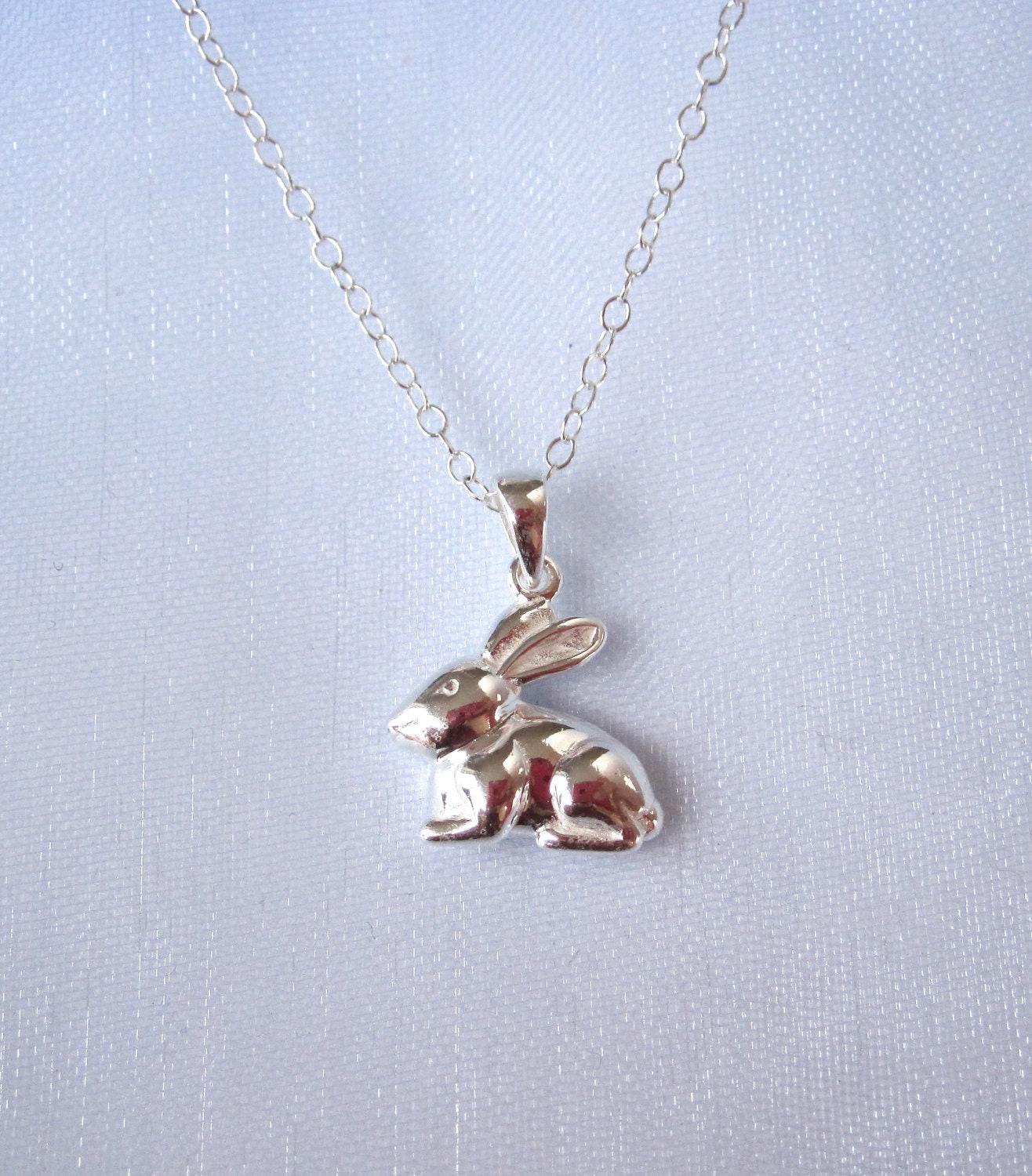 925 sterling silver bunny rabbit pendant charm and 925