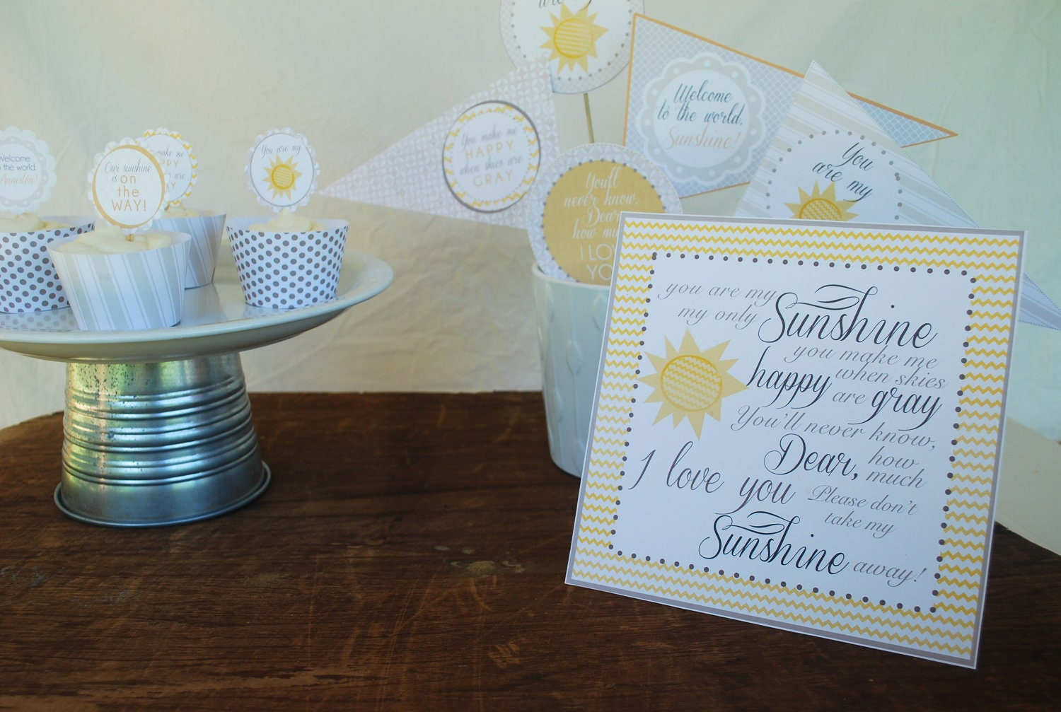baby shower my sunshine printable party pack by sissyandrubes
