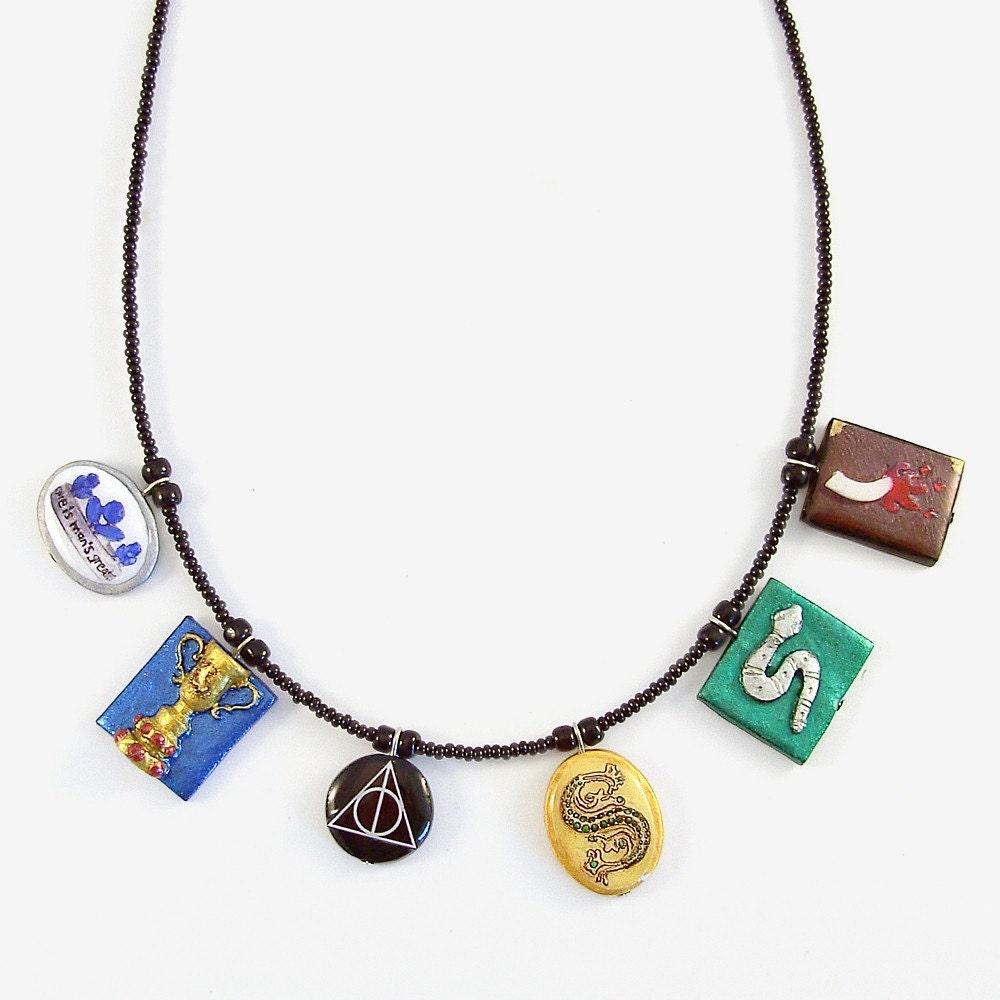 Horcrux Charm Bracelet 6 Horcrux Charms Beaded
