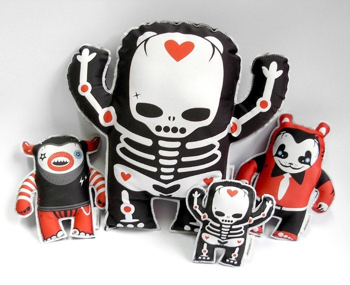 Etsy :: post :: BIG Sheldon Rosen the skeleton soft plush toy from etsy.com