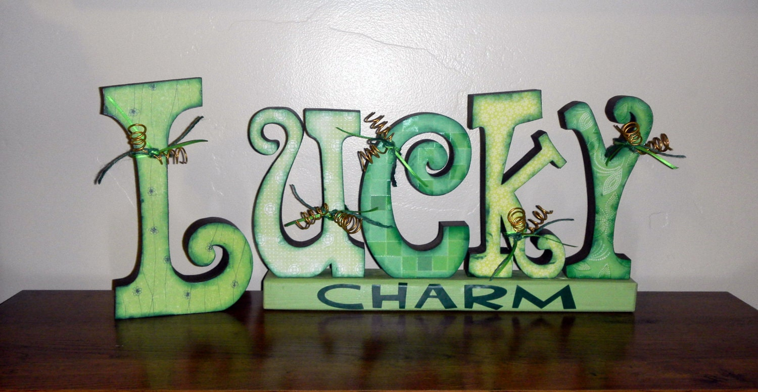 Large LUCKY Charm Decor - perfect for St patrick's Day Decoration