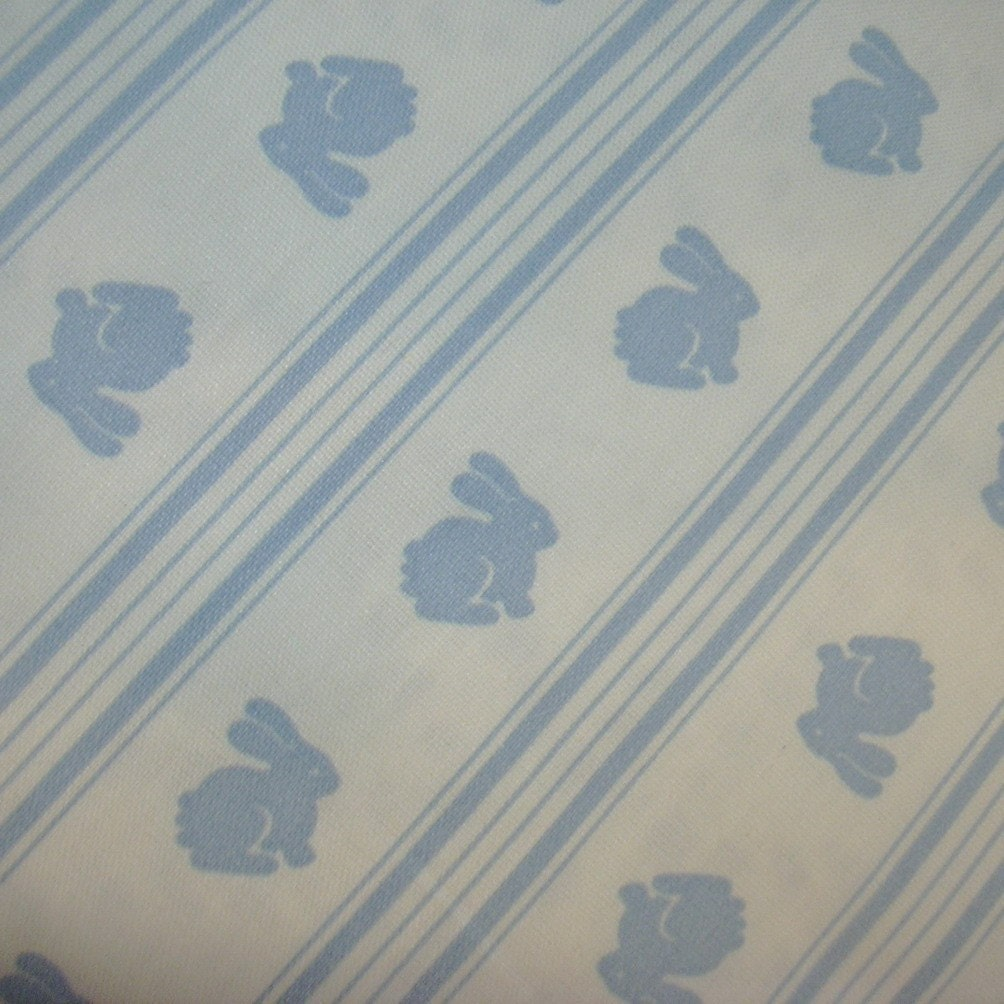 Reserved for Sarah - Cotton Fabric - Blue Bunnies
