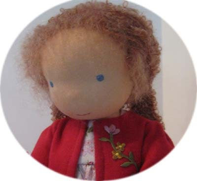 Ria's first day at School Fairywooldoll Waldorf inspiert cloth doll