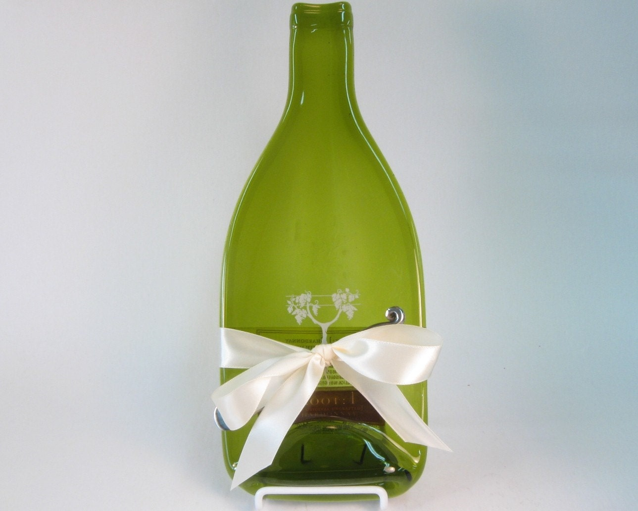 Melted wine bottle cheese plate root by mitchellglassworks on etsy - How do you melt glass bottles ...