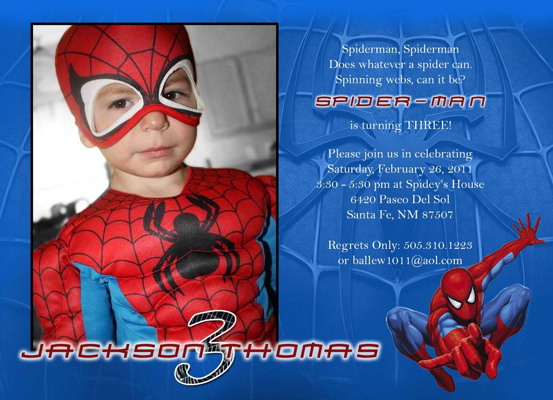 Spiderman Bday Invitations for beautiful invitation layout