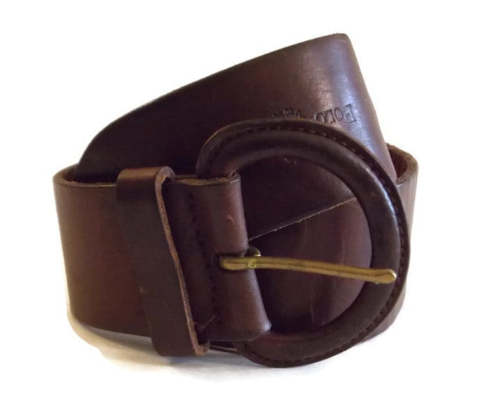 ralph leather belt brown wide belt by