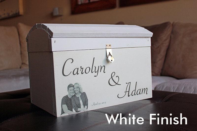 Custom Large Wedding Card Box With Heart Lock By Modernprint21