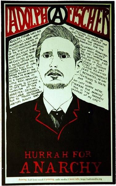 Adolph Fischer Offset Poster Haymarket Riot Martyr Art
