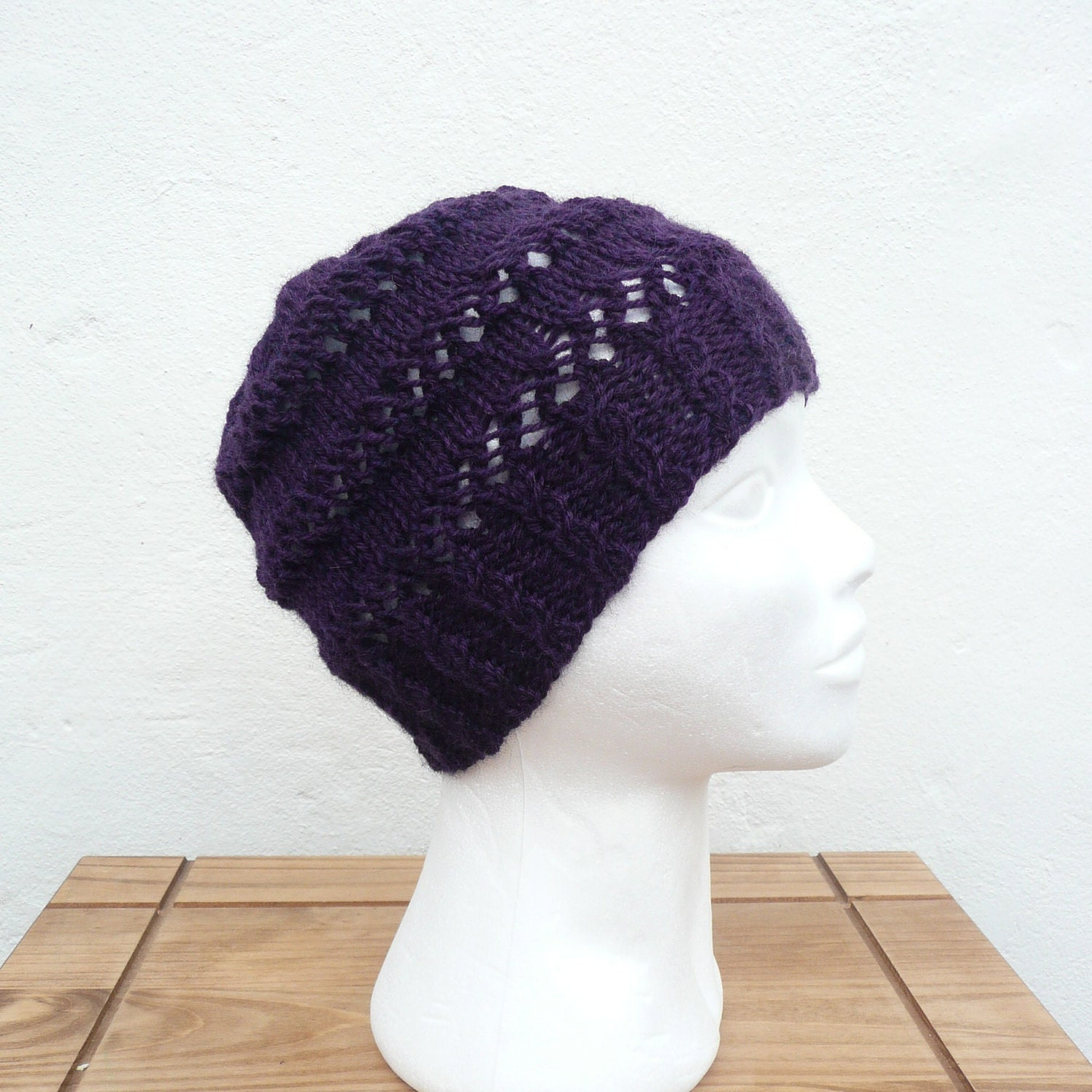 Items similar to Knitting PATTERN HAT Beanie Tam Beret - Chatsworth Hat - Ins...